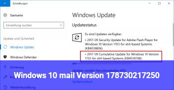 Windows 10 mail Version 17.8730.21725.0