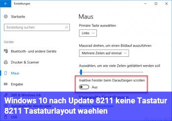 Windows 10 nach Update – keine Tastatur – Tastaturlayout wählen