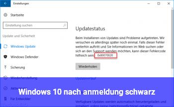 Windows 10 nach anmeldung schwarz