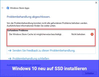 Windows 10 neu auf SSD installieren