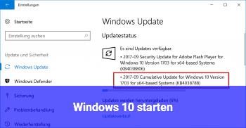 Windows 10 starten