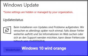 Windows 10 wird orange