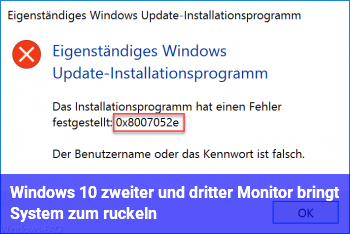 Windows 10 zweiter und dritter Monitor bringt System zum ruckeln