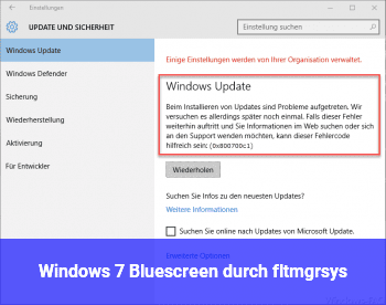 Windows 7 Bluescreen durch fltmgr.sys