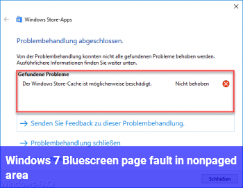 Windows 7 Bluescreen page fault in nonpaged area