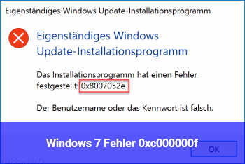 Windows 7 Fehler 0xc000000f