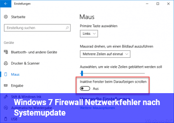 Windows 7: Firewall & Netzwerkfehler nach Systemupdate