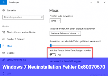 Windows 7 Neuinstallation Fehler ( 0x80070570 )