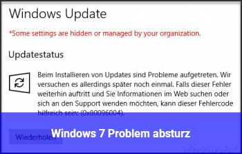 Windows 7 Problem absturz