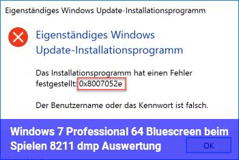 Windows 7 Professional 64 Bluescreen beim Spielen – .dmp Auswertung
