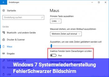 Windows 7 Systemwiederherstellung Fehler,Schwarzer Bildschirm.