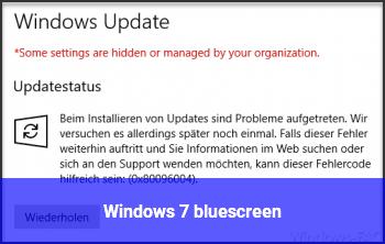 Windows 7 bluescreen