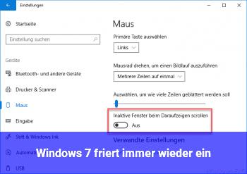 Windows 7 friert immer wieder ein