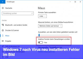 Windows 7 nach Virus neu installieren + Fehler im Bild