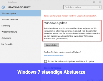 Windows 7 ständige Abstürze