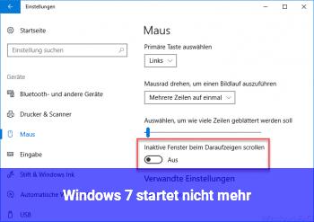 Windows 7 startet nicht mehr
