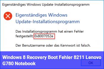 Windows 8 Recovery Boot Fehler – Lenovo G780 Notebook