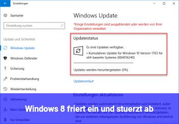 Windows 8 friert ein und stürzt ab