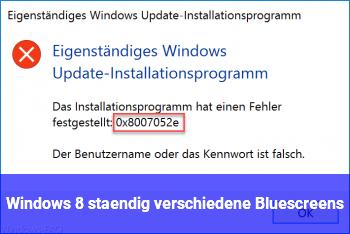 Windows 8 ständig verschiedene Bluescreens