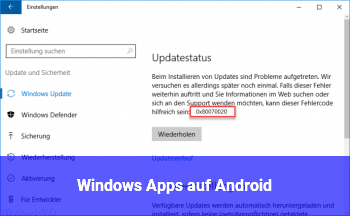 Windows Apps auf Android