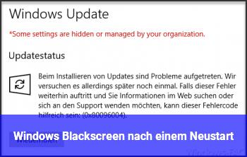 Windows Blackscreen nach einem Neustart