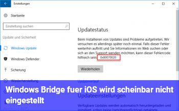 Windows Bridge für iOS wird scheinbar nicht eingestellt