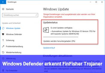 Windows Defender erkennt FinFisher Trojaner