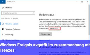 Windows Ereignis avgntflt im zusammenhang mit Freezes