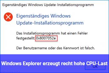 Windows Explorer erzeugt recht hohe CPU-Last