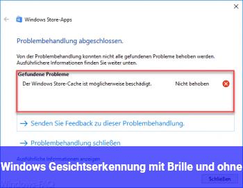 Windows Gesichtserkennung mit Brille und ohne