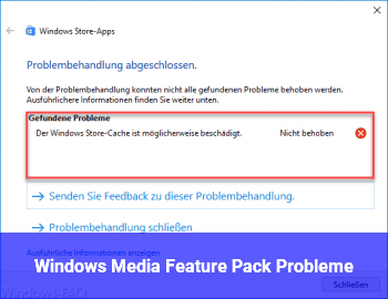 Windows Media Feature Pack Probleme