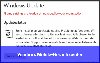 Windows Mobile-Gerätecenter