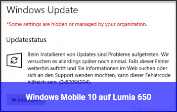 Windows Mobile 10 auf Lumia 650