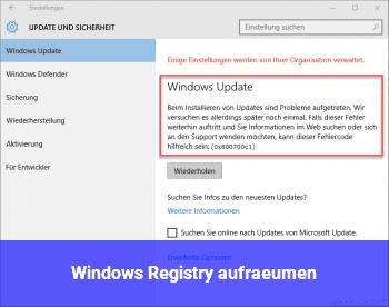 Windows Registry aufräumen?