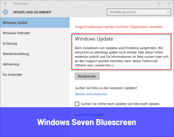 Windows Seven Bluescreen