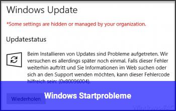 Windows Startprobleme