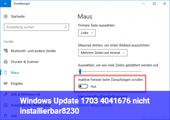 Windows Update 1703 ( 4041676 ) nicht installierbar…!