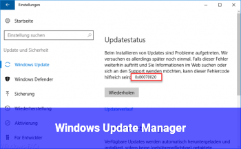 Windows Update Manager