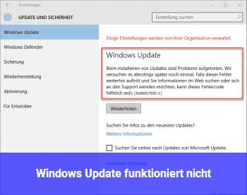 Windows Update funktioniert nicht