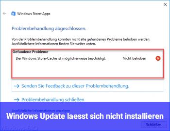 Windows Update lässt sich nicht installieren