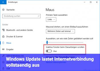 Windows Update lastet Internetverbindung vollständig aus