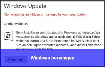 Windows bereinigen?