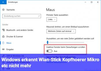Windows erkennt Wlan-Stick, Kopfhörer, Mikro etc. nicht mehr!