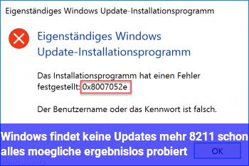 Windows findet keine Updates mehr – schon alles mögliche ergebnislos probiert
