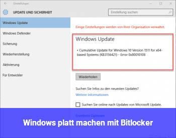 Windows platt machen mit Bitlocker?