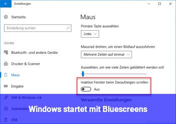 Windows startet mit Bluescreens
