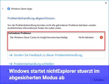 Windows startet nicht/Explorer stürzt im abgesicherten Modus ab