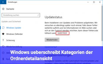Windows überschreibt Kategorien der Ordnerdetailansicht