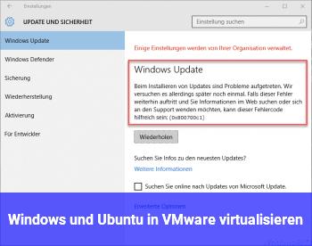 Windows und Ubuntu in VMware virtualisieren