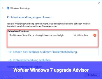 Wofür Windows 7 upgrade Advisor?